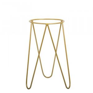 Suport pentru ghiveci Mistaya, metal, auriu, 50 x 24 x 24 cm