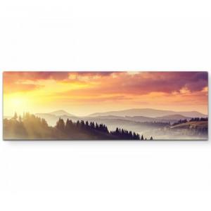 "Tablou ""Apus de soare la munte"", 150 x 50 cm"