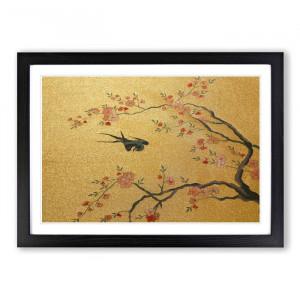"Tablou ""Flying Bird"", MDF, 35 x 50 x 2 cm"