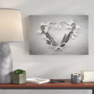 Tablou canvas Flower Heart , 40 x 60 cm