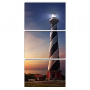 Tablou Cape Hatteras Lighthouse, 3 piese, 240 x 120 cm
