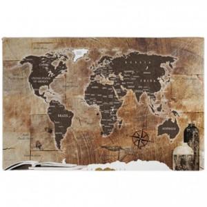 Tablou, lemn/panza, maro, 60 x 90 cm