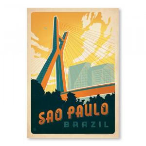 Tablou Sao Paolo de Joel Anderson, hartie, 61 x 46 cm