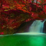 Tablou 'Waterfall and Autumn Trees', 40 x 60 cm