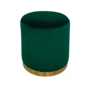 Taburet Home Affaire, catifea, verde, 40 x 40 x 40 cm
