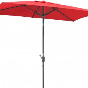 Umbrela de soare Tunis, rosu, 150 x 270 cm
