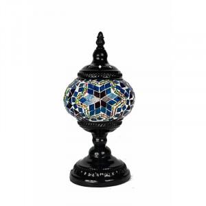 Veioza Goulburn din metal, negru / albastru, 30 cm