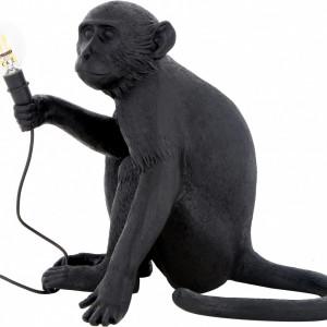 Veioză Monkey, negru, 34 x 32cm