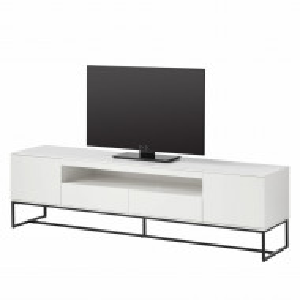 Comoda TV Zaddy II - alb/negru - MDF alb
