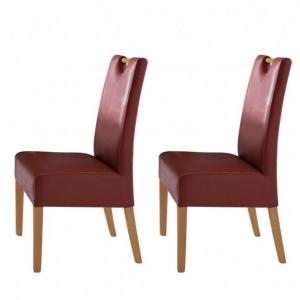 Set de 2 scaune Alessia, piele sintetica, rosu