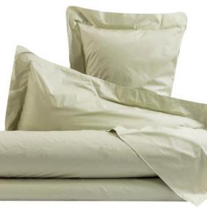 Cearsaf de pat drept si 1 fata de perna verde pal , single