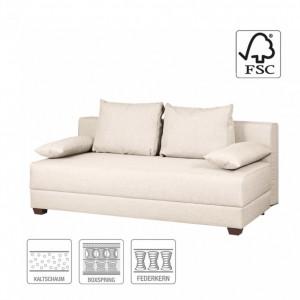 Canapea extensibila cu arcuri boxspring Dingo - tesatura - crem