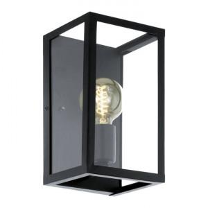 Aplica Charterhouse, metal/sticla, neagra, 16 x 28 x 15 cm, 60w