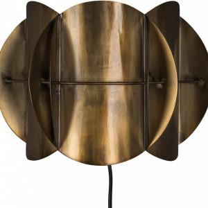 Aplica de perete, metal, maro, 27 x 19 x 14 cm