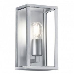 Aplica Garonne sticla / aluminiu, 1 bec, argintiu, 230 V, 3000 K