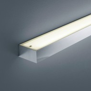 Aplica LED Theia sticla acrilica/cromat, alb, 1 bec, dreptunghiular, latime 60 cm