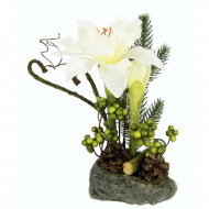 Aranjament floral Amaryllis, 25 x 13 x 11cm