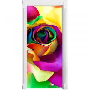 Autocolant pentru ușă Multi-Coloured Roses, 200 x 90 cm
