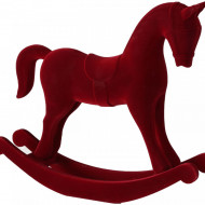 Balansoar, din catifea, rosu, 38 x 31 x 8 cm