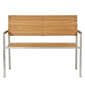 Banca Teakline Exklusiv lemn masiv/ otel- 125 cm