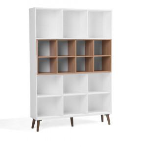 Biblioteca Alloa, alb/maro, 174 x 120 x 30 cm