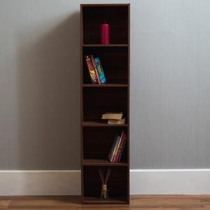 Bibliotecă Gerardi cu 5 rafturi, MDF, 132cm H x 32cm W x 24cm D