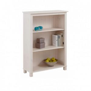 Biblioteca Pivo lemn masiv de pin/MDF/metal, alb, 171 x 77 x 31 cm