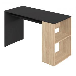 Birou Grogan, negru/maro, 75,5 x 114 x 50 cm