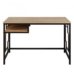 Birou Hawkesbury, metal/lemn, maro/negru, 76,2 x 119,38 x 60,69 cm