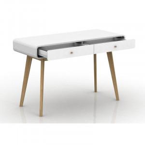 Birou Justine din lemn, alb, 120 x 70 cm