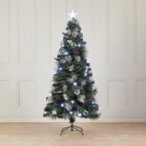 Brad artificial de Crăciun cu 48 de lumini, 120 cm
