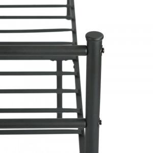 Cadru de pat Aliviyah, negru, 196 x 91 cm