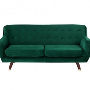 Canapea Bodo, din Lemn Solid, Verde Smarald, 188 x 84 x 85 cm