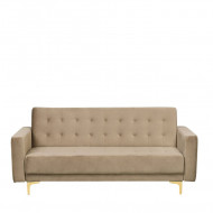 Canapea extensibilă Aberdeen, bej, 83 x 186 x 88 cm
