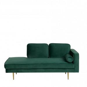 Canapea MIRAMAS, metal/catifea, verde, 171 x 79 x 63 cm