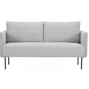 Canapea Ramira, două locuri, țesătură, gri deschis, 151 cm x 79 cm x 76 cm