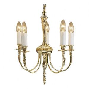 Candelabru Nottingham, metal, auriu, 46 x 38 x 38 cm