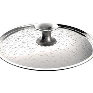 Capac din oțel inoxidabil cu decor în relief, d 24 cm