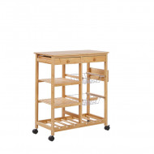 Carucior de bucatarie MORINO, lemn/MDF, maro, 80 x 67 x 37 cm