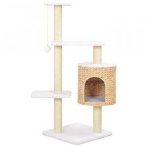 Casa pentru pisici Caruso, maro/alba, 107 x 40 x 40 cm