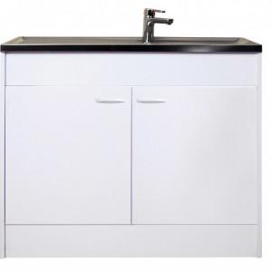 Chiuveta cu dulap, alb, 100 x 50 x 85 cm