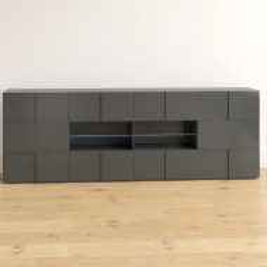 Comoda Bailee, MDF, gri, 84 x 241 x 42 cm