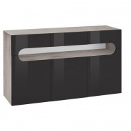 Comoda Places of Style, antracit, 135 x 81 cm, functie push-to-open