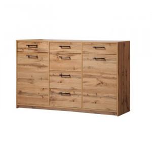 Comoda Schwartz, lemn masiv, 97 x 164 x 39 cm