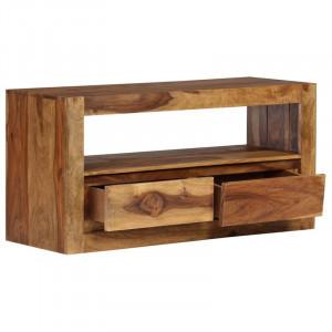 """Comoda TV 39 """" Verlyn din lemn masiv, 80 x 40 cm"""