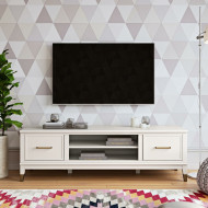 "Comodă TV 65 "" Westerleigh, MDF, alb, 151cm L x 46cm H x 50cm D"