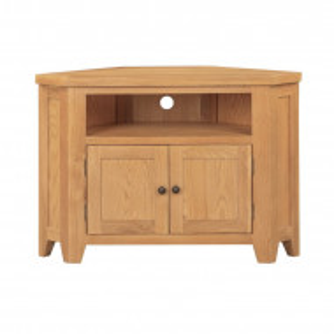 Comoda TV Vineland, lemn masiv, maro, 100 x 70 x 45 cm
