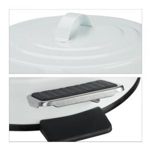 Cos de gunoi, alb, 29 x 19 x 24 cm