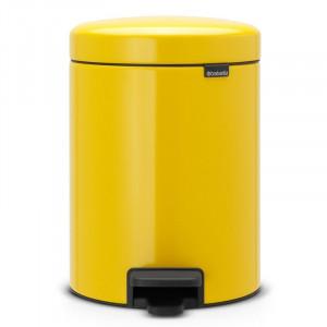 Cos de gunoi NewIcon, galben, 5 L