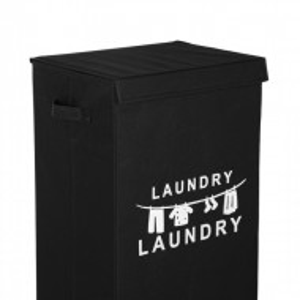 Cos de rufe Leonis, pliabil, textil, negru